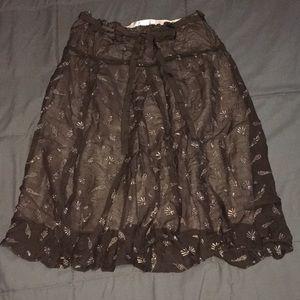 Tropical themed maxi skirt sz 2 XS